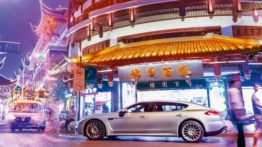 Panamera Turbo Executive, Erkundungstour Shanghai, 2015, Porsche AG