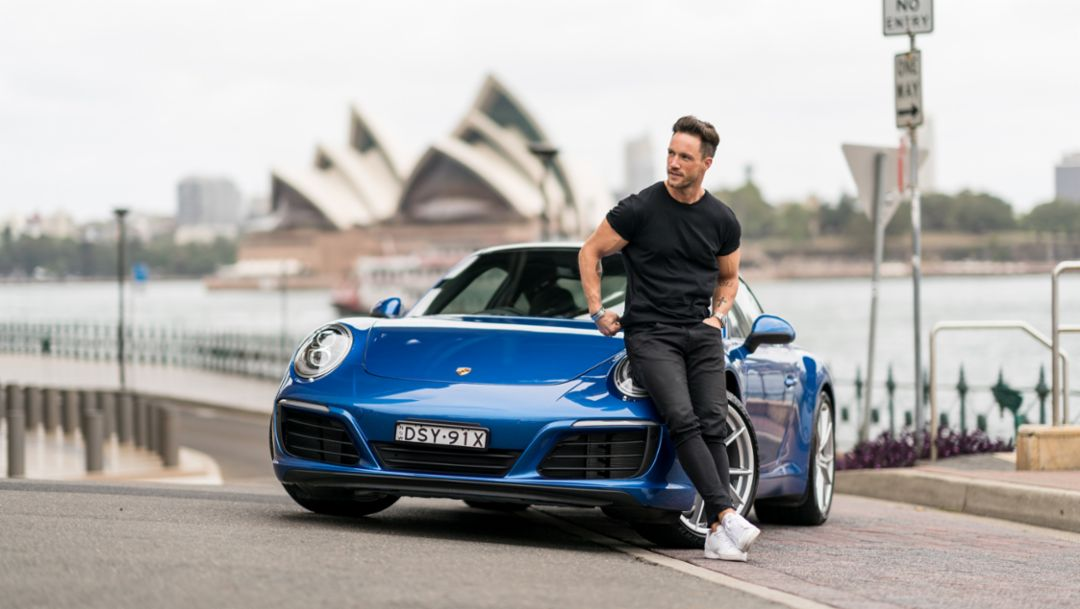 Daniel Fuchs aka Magic Fox, Blogger und Influencer, 911 Carrera, Sydney, 2018, Porsche AG
