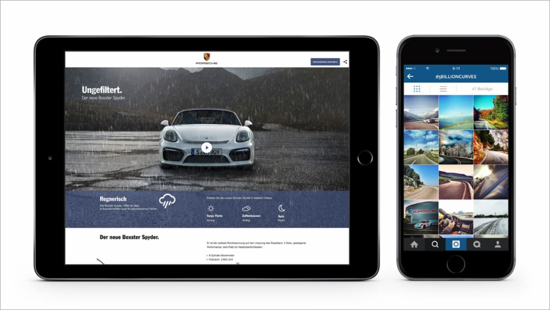 Boxster Spyder, web special, instagram campaign, 2015, Porsche AG