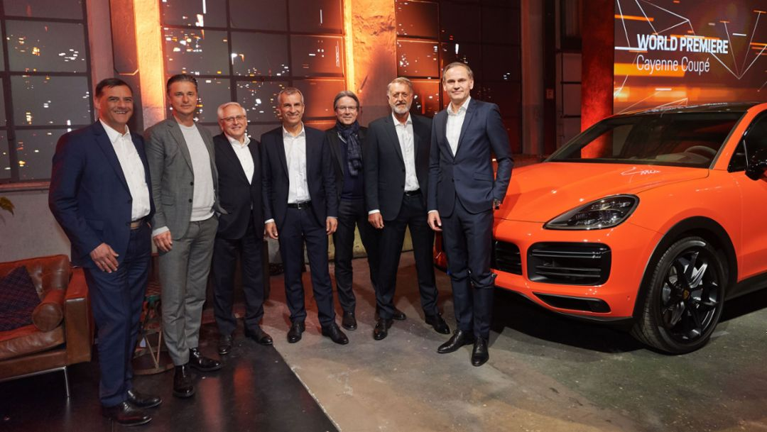 World premiere of the new Porsche Cayenne Coupé, Stuttgart, 2019, Porsche AG