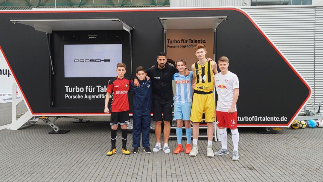 Sami Khedira, Turbo for Talents, 2018, Porsche AG