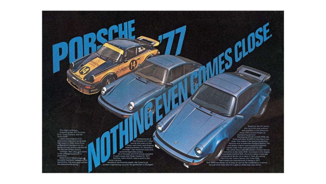 Porsche Anzeige zwischen 1970 und 1979