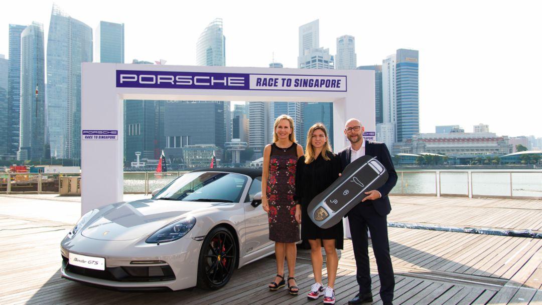 "Simona Halep wins the ""Porsche Race to Singapore"""