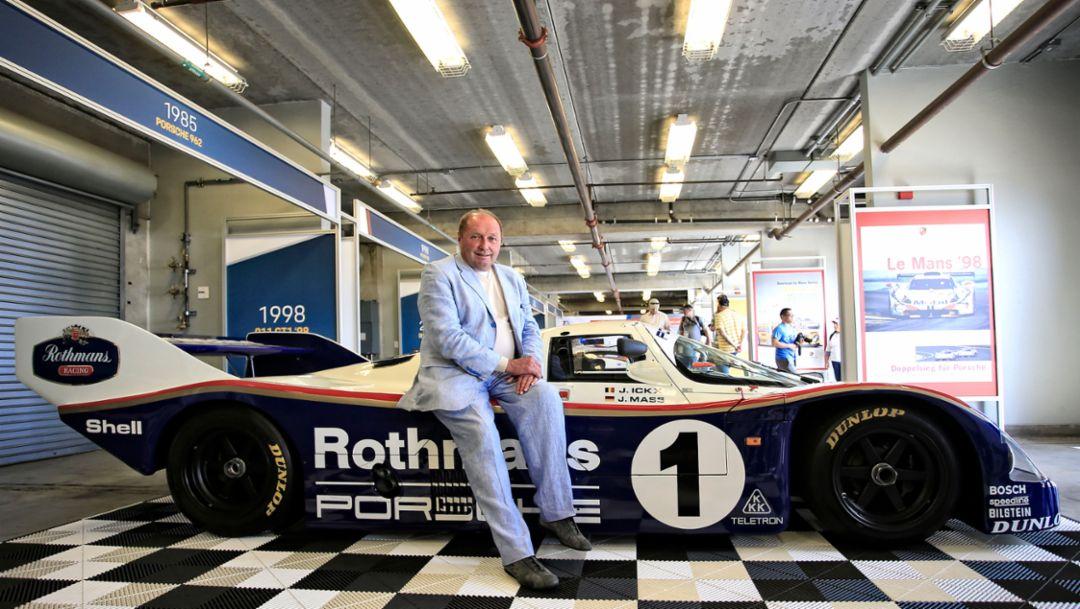 Jochen Mass, Porsche-Legende, Rennsport Reunion VI, WeatherTech Raceway Laguna Seca, Kalifornien, 2018, Porsche AG