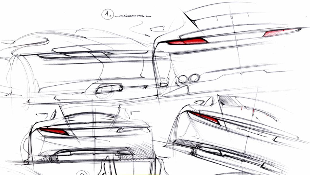 911 Carrera Coupé, design sketch, 2012, Porsche AG