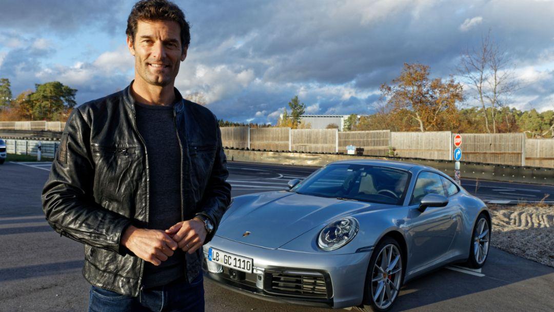 As the World Premiere nears, Mark Webber drives the new Porsche 911