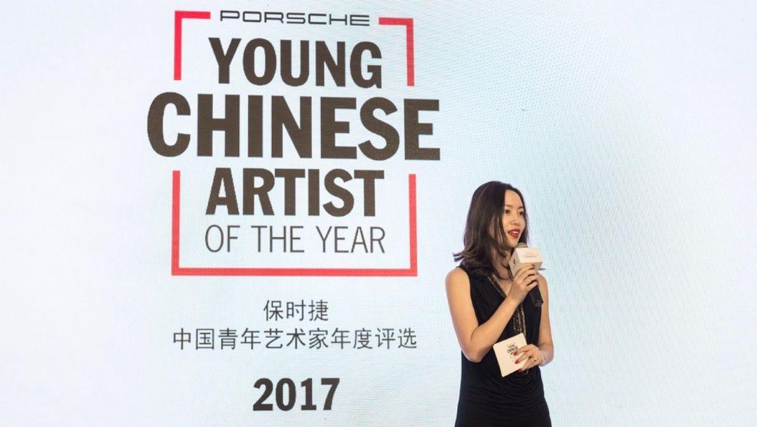 保时捷中国公关传媒总监唐凤靓女士致辞