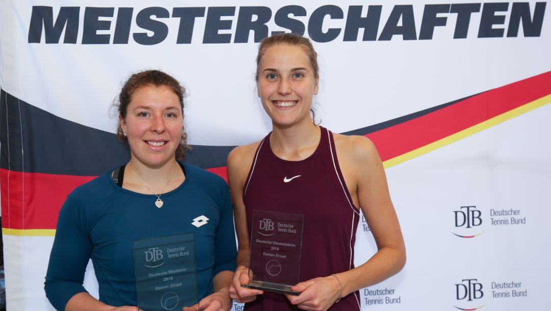 Anna-Lena Friedsam, Antonia Lottner, l-r, Deutsche Meisterschaften, 2018, Porsche AG