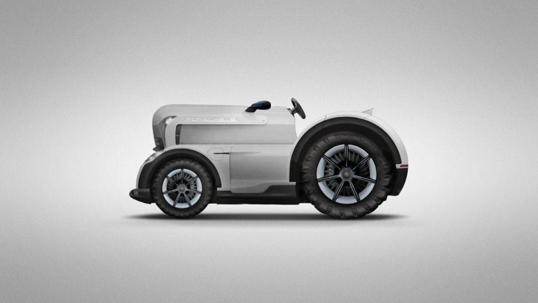 Back to the roots: Porsche announces Mission E Tractor