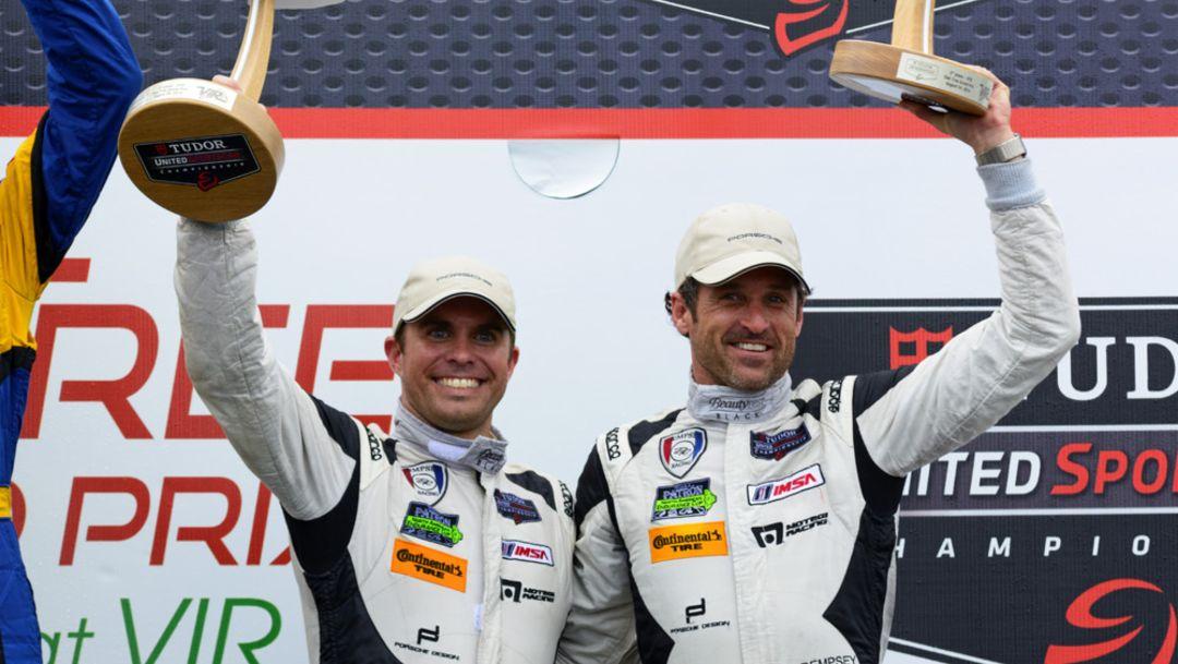 Andrew Davis, Patrick Dempsey, Werksfahrer, l.-r., Tudor United Sports Car Championship, 2014, Porsche AG