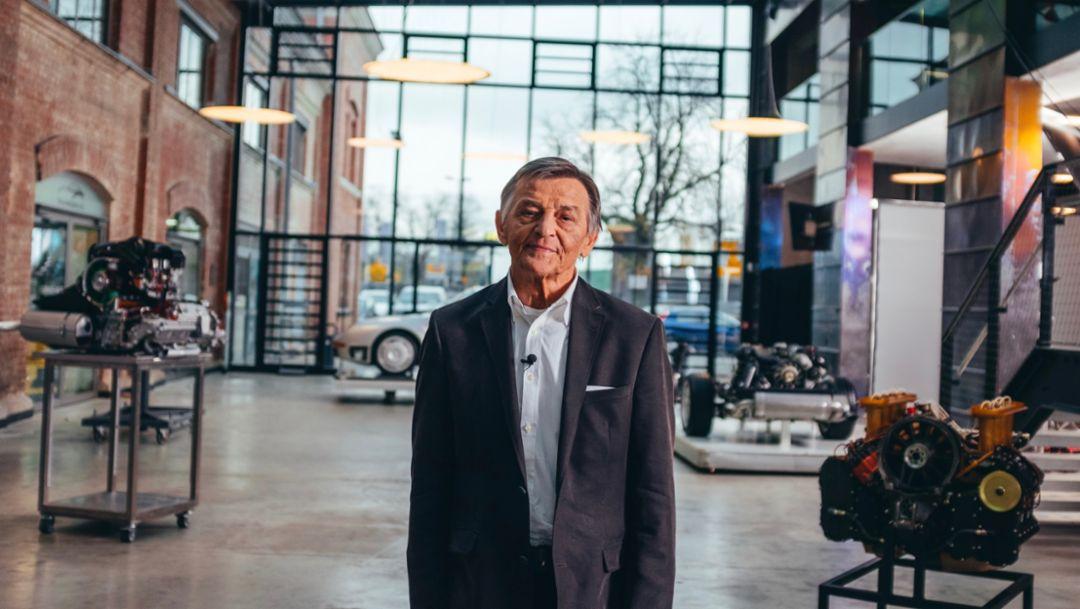 Hans Mezger, Oldtimer-Werkstatt Ulm, 2018, Porsche AG