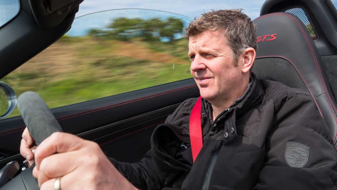 Mark Higgins, rally champion, Isle of Man, 2019, Porsche AG