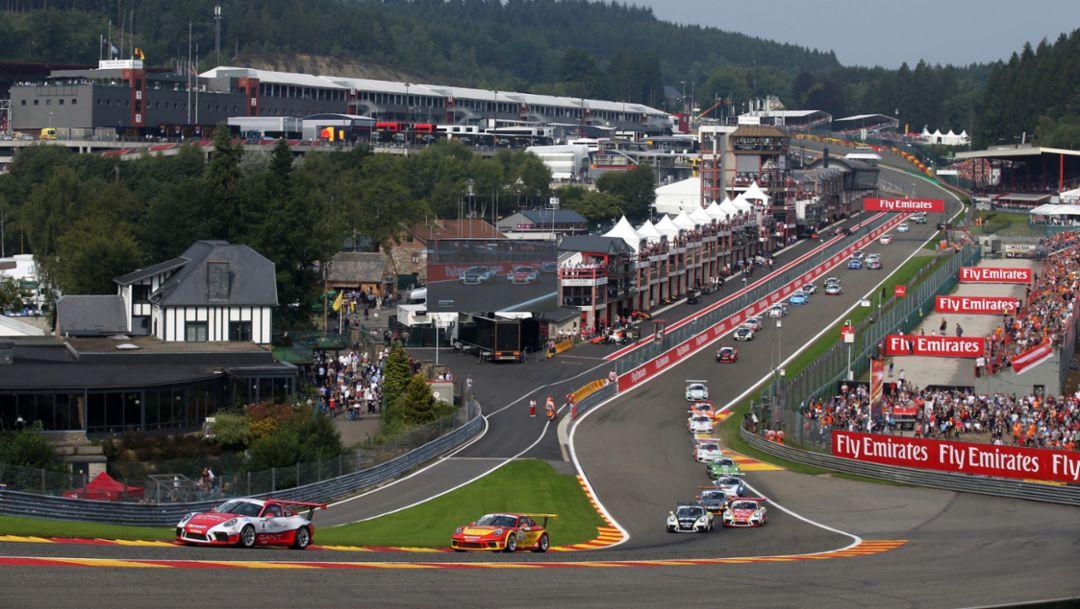 911 GT3 Cup, Porsche Mobil 1 Supercup, Spa-Francorchamps, 2017, Porsche AG
