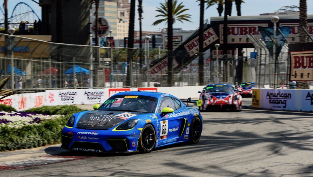 718 Cayman GT4 Clubsport, TRG, IndyCar Series, Long Beach, 2019, Porsche AG