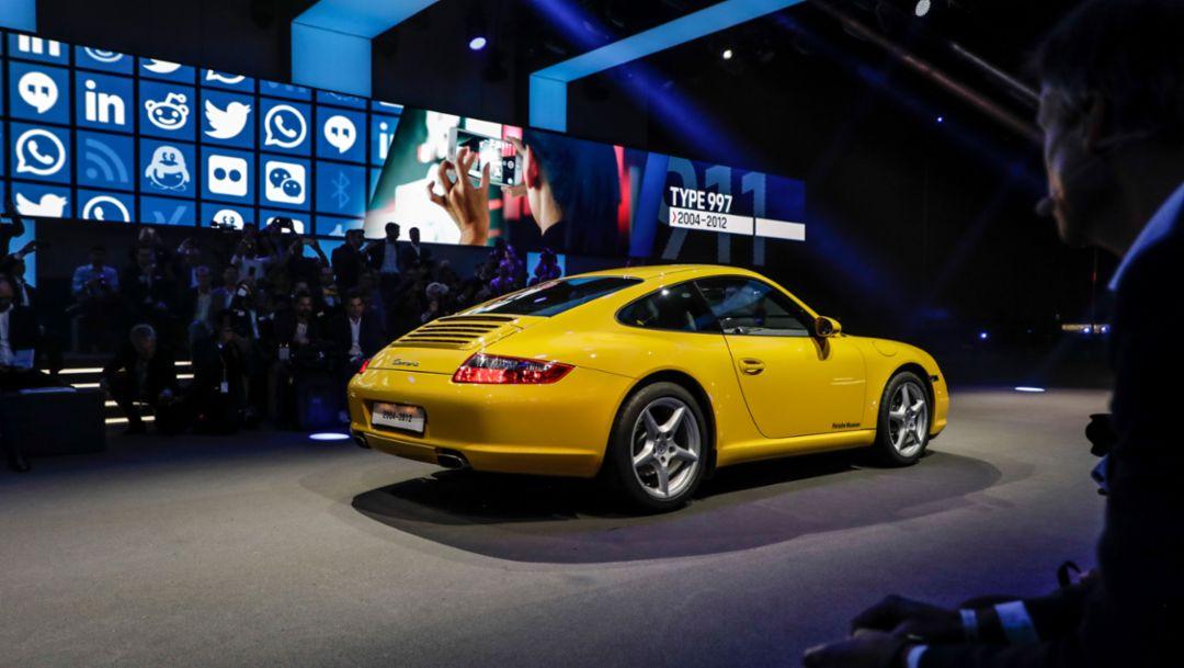 911 (997), world premiere Porsche 911, Los Angeles, 2018, Porsche AG