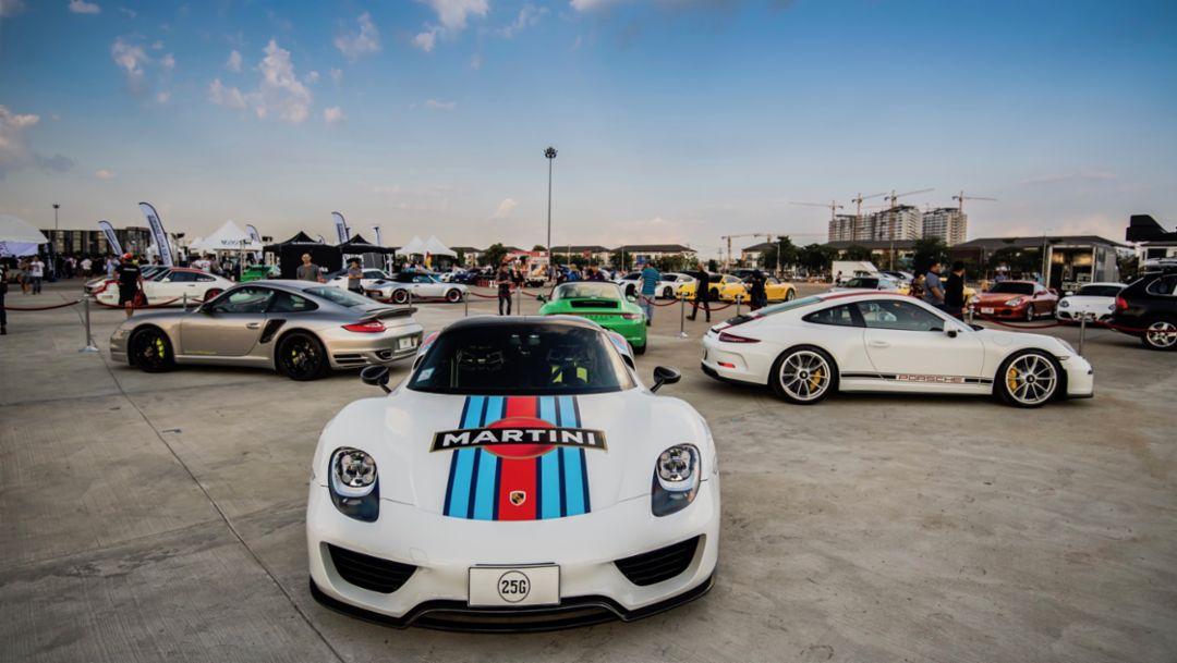 918 Spyder, Das Treffen, Thailand, 2018, Porsche AG