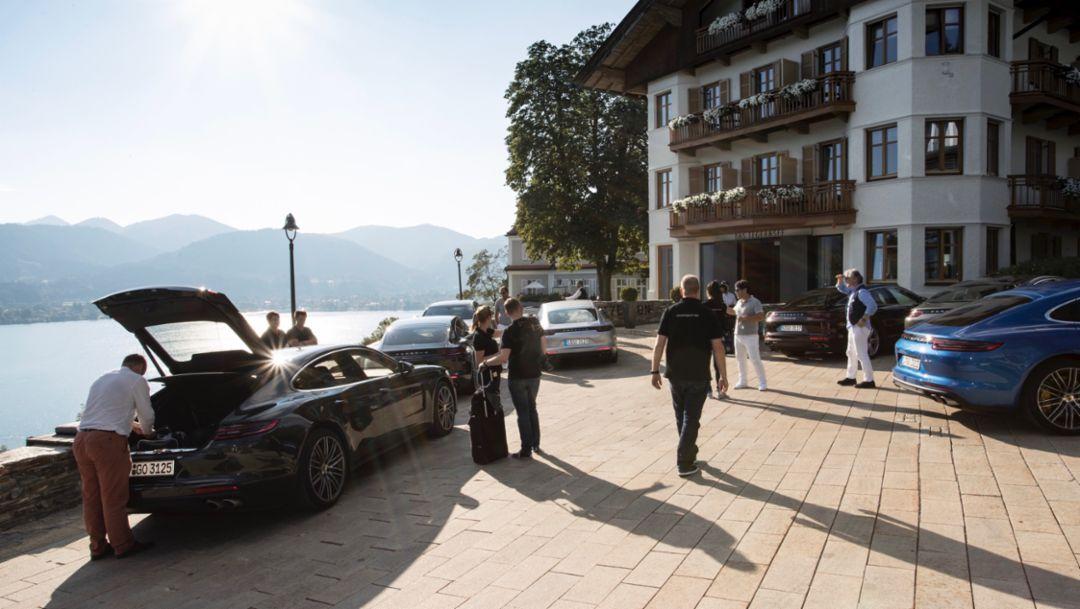 International press launch Panamera, Tegernsee lake, 2016, Porsche AG