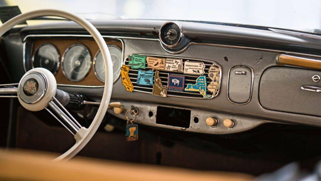 Porsche Beutler, steering wheel, 2016, Porsche AG