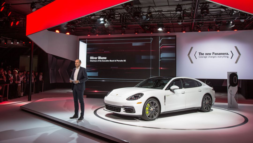 Porsche press conference at the Los Angeles Auto Show 2016