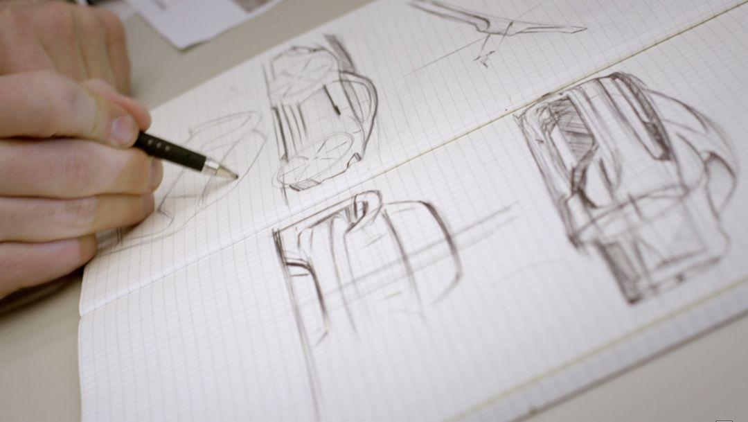 design-sketch Mission E, 2016, Porsche AG