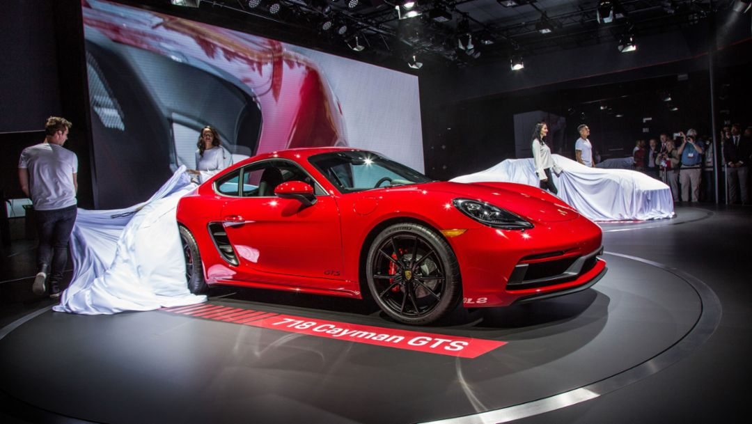 Porsche press conference at the Los Angeles Auto Show 2017