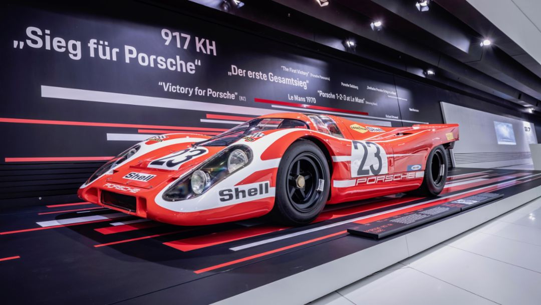 917 KH, special exhibition 50 Years of the Porsche 917 – Colours of Speed, Porsche Museum, 2019, Porsche AG