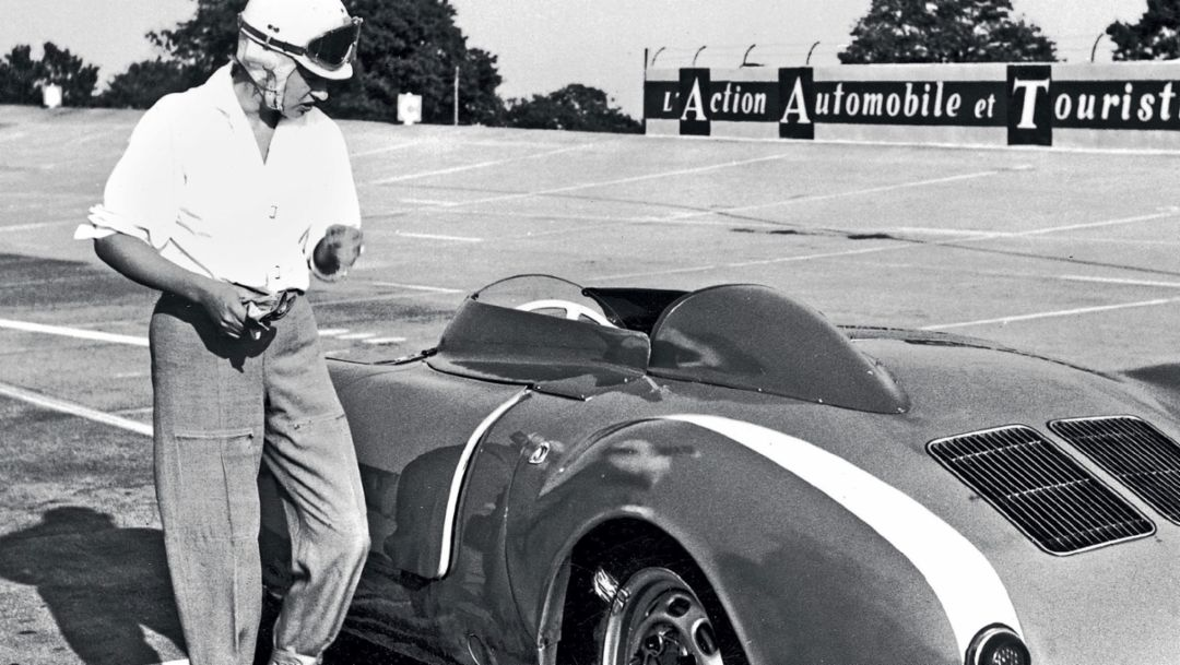 Annie Bousquet, Porsche 550 Spyder, Montlhéry, 1955, Porsche AG