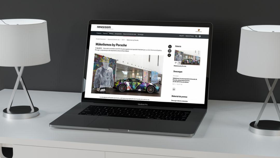 Porsche Ibérica lanza la página web Porsche Newsroom en español