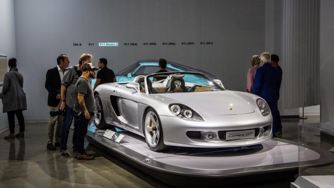 """Carrera GT, """"The Porsche Effect"""", Petersen Automotive Museum, 2018, Porsche AG"""