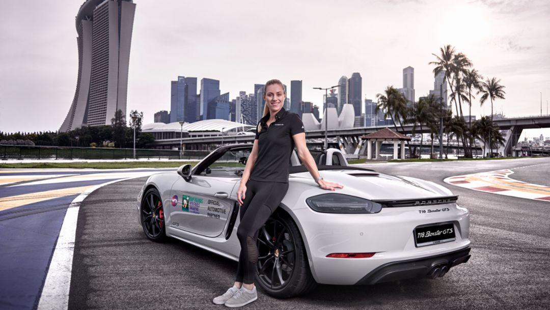 Angelique Kerber, 718 Boxster GTS, Singapore, 2018, Porsche AG