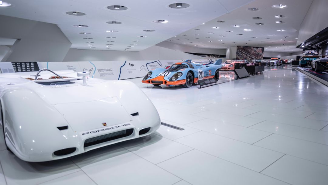 917 PA Spyder, 917 KH Coupé, special exhibition 50 Years of the Porsche 917 – Colours of Speed, Porsche Museum, 2019, Porsche AG