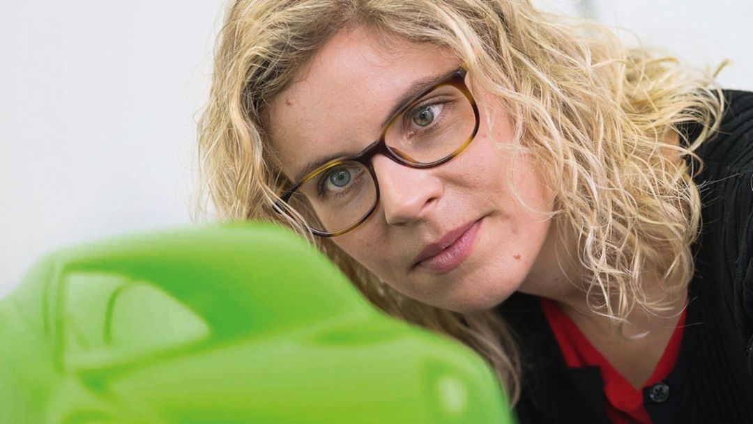 Sina Brunner, product manager for innovation and color, 2018, Porsche AG