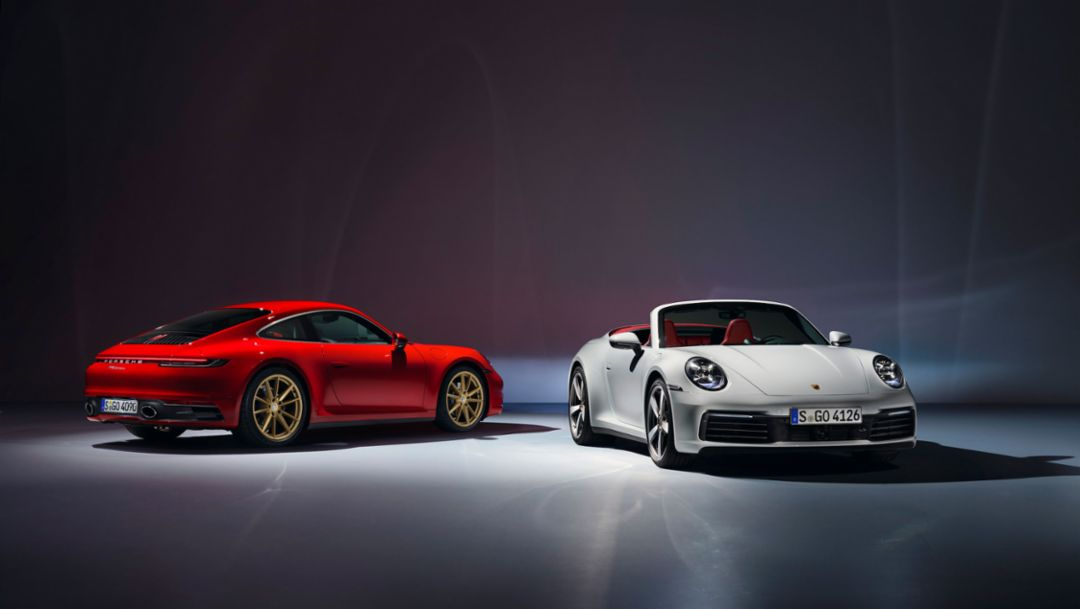 Porsche introduces new 911 Carrera Coupé and 911 Carrera Cabriolet