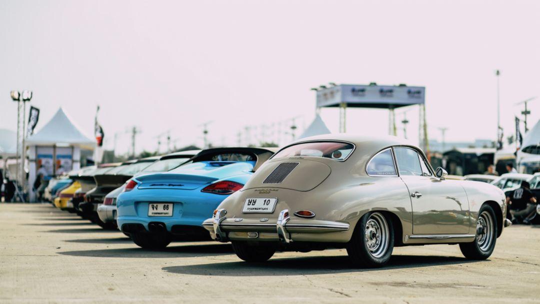 Boxster Spyder, 356 B T5, l-r, Das Treffen, 2018, Porsche AG