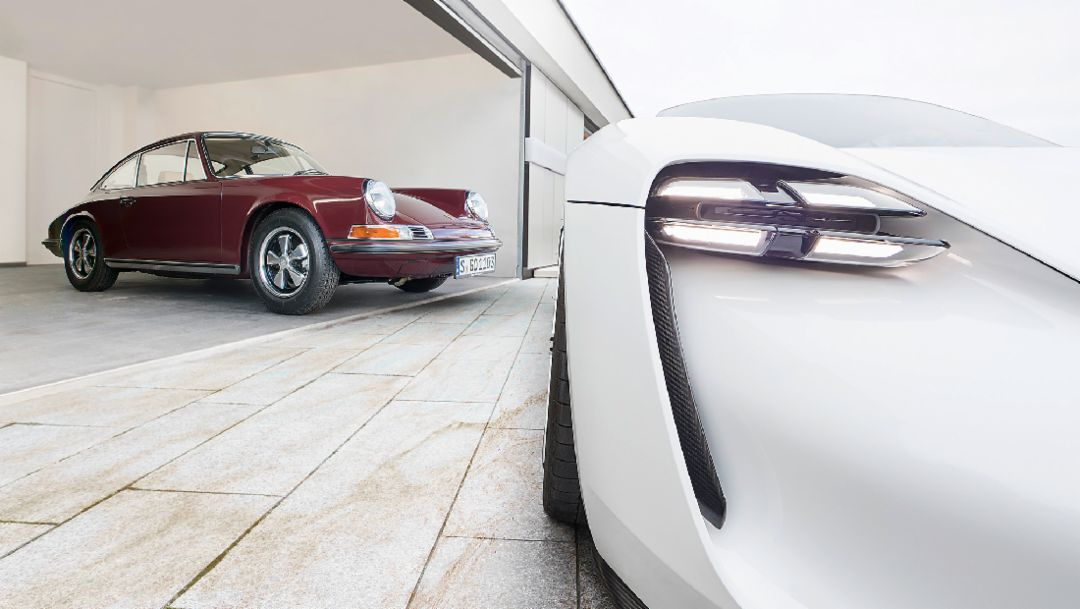"""E"" for efficient: The Mission E concept car meets the 911 E"