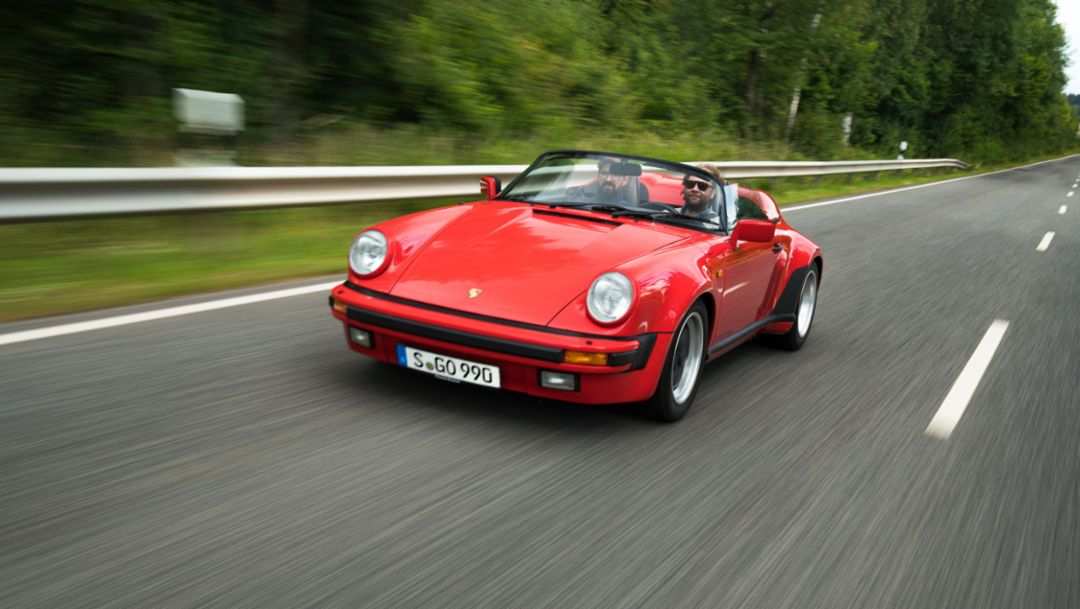 911 Carrera 3.2 Speedster (1989), Journey to Goodwood, 2018, Porsche AG