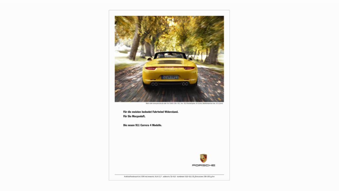 Porsche Anzeige zwischen 1994 und heute
