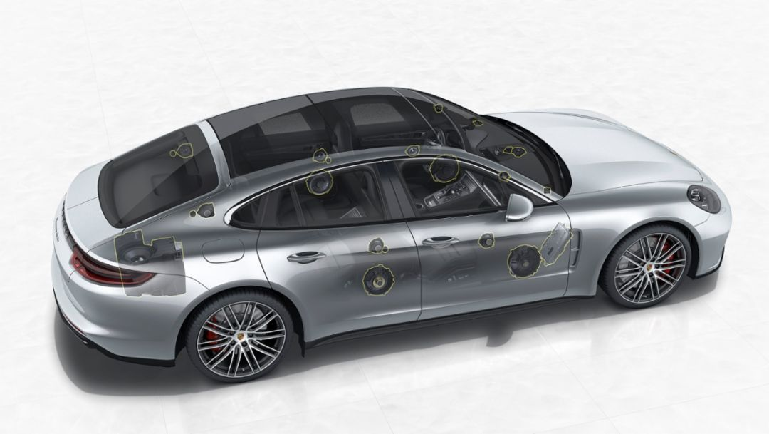 Panamera Turbo, 3D High-End Surround Sound-System by Burmester®, 2016, Porsche AG