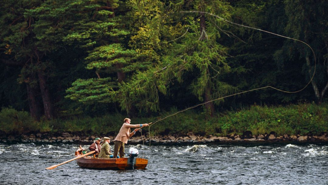 Fly fishing, Scotland, 2016, Porsche AG