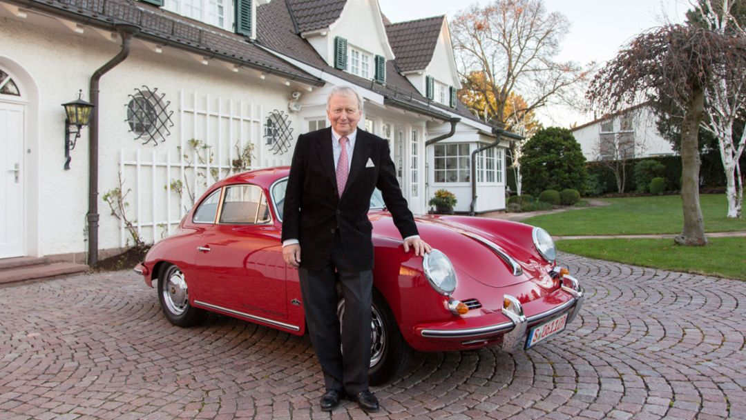 Dr Wolfgang Porsche, Chairman of the Supervisory Board, 356 B, Porsche mansion, Stuttgart, 2016, Porsche AG