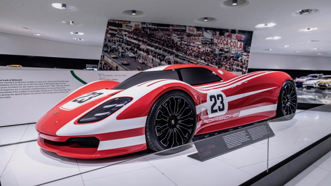 917 concept study, special exhibition 50 Years of the Porsche 917 – Colours of Speed, Porsche Museum, 2019, Porsche AG