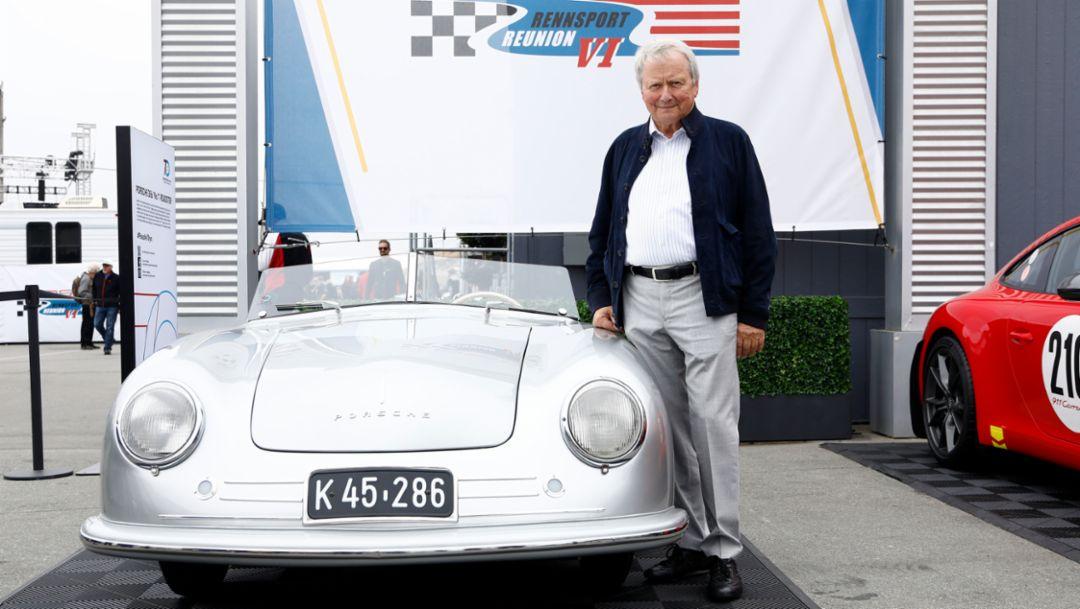 Dr. Wolfgang Porsche, Aufsichtsratsvorsitzende der Porsche AG, Rennsport Reunion VI, WeatherTech Raceway Laguna Seca, California, 2018, Porsche AG