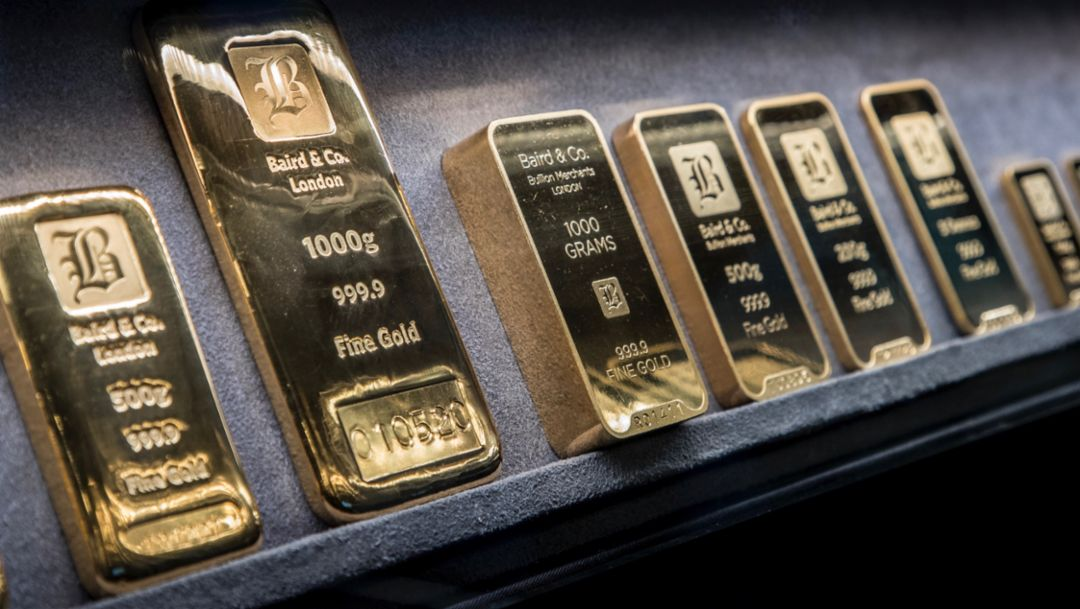 Gold bars, London, 2018, Porsche AG