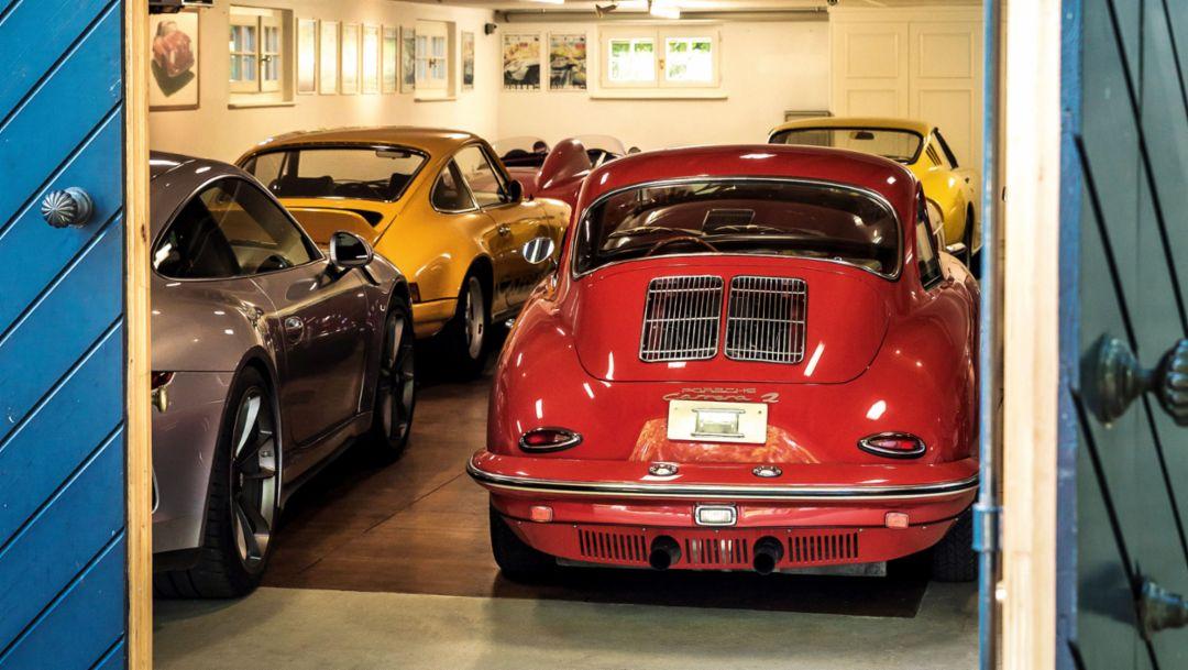 Karl-Friedrich Scheufele's garage, 2019, Porsche AG