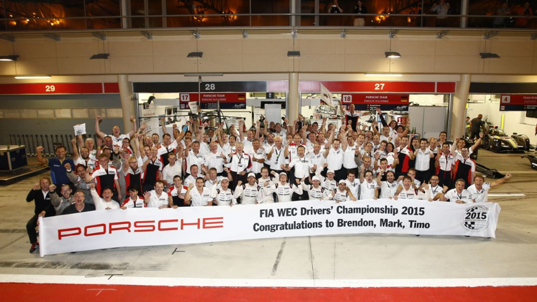 Porsche Team, WEC Bahrain 2015, Porsche AG
