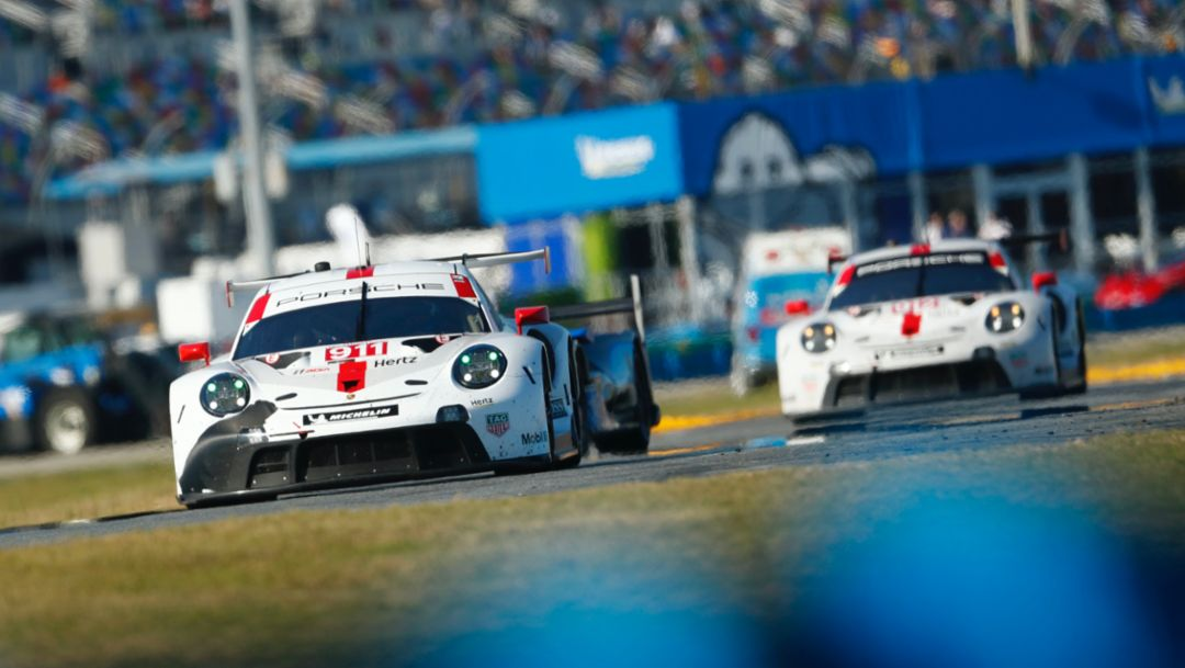 IMSA: Perfect start for Porsche at the long-distance classic in the USA