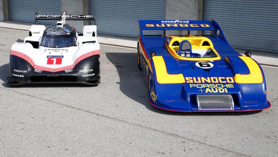 El Porsche 919 Evo se reúne con su legendario predecesor, el 917/30