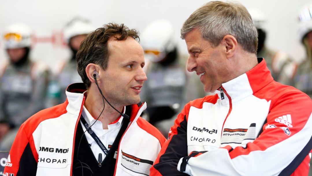 Alexander Hitzinger, Technischer Direktor LMP1, Fritz Enzinger, Leiter LMP1, Spa 2015, Porsche AG