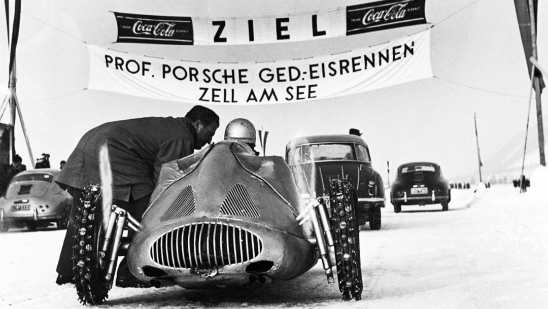 Ice Race, Zell am See, 1956, Porsche AG