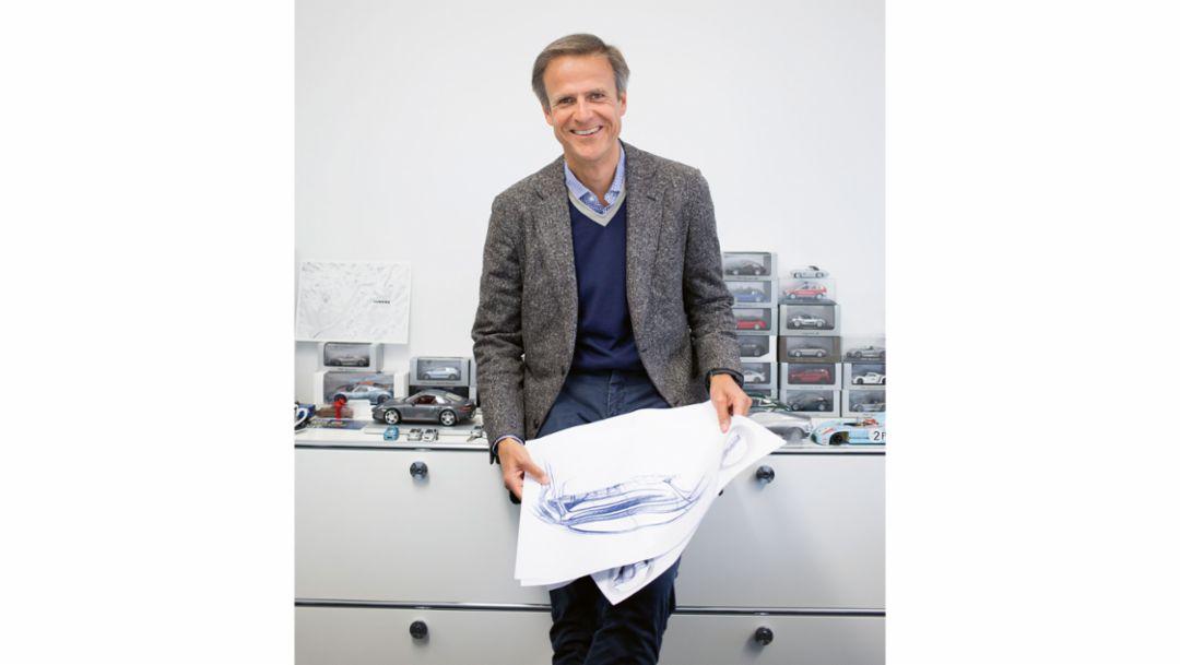 Michael Mauer, Chief Designer at Porsche, 2018, Porsche AG